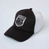 Eudoxie Casquette Charly Panthere Wild Rider Trucker Blanc Noir Coeur Patch